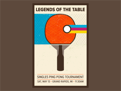 Legends of the Table Tournament Edition Poster michigan grand rapids win fun beer bottle tournament table legends ping pong