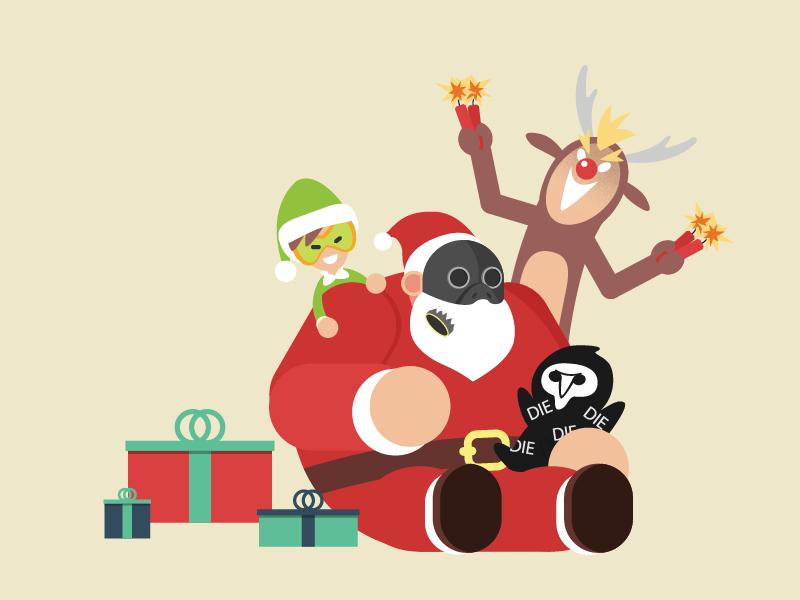Overwatch Christmas.Merry Christmas Overwatch By Komorebi On Dribbble