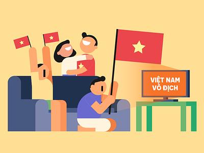 Viet Nam Vo Dich football fan vietnam tv