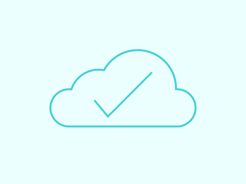 (1/100) Cloud Icon yes tick complete cloud icon icons of days 100