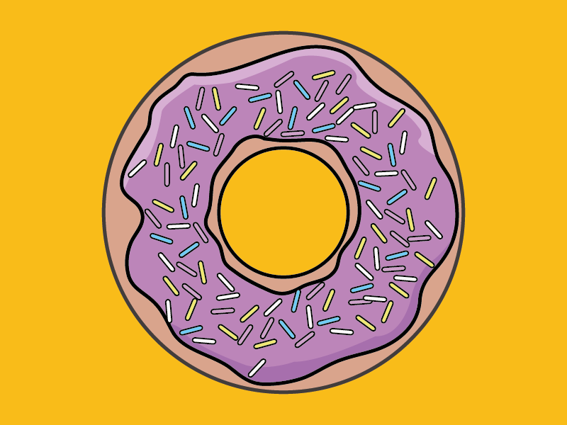 Happy Donut Day illustration icing simpsons day donut happy