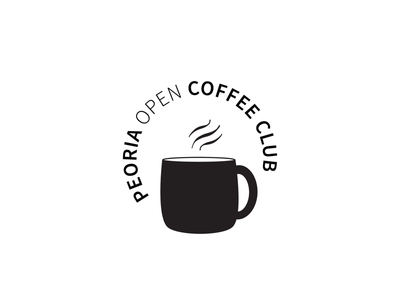Peoria Open Coffee Club Logo Version 1