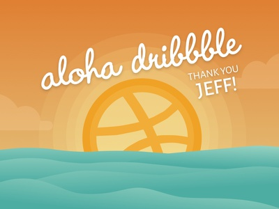 Aloha dribbble! ocean sunset debut