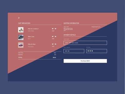 Daily UI #002 Checkout Page