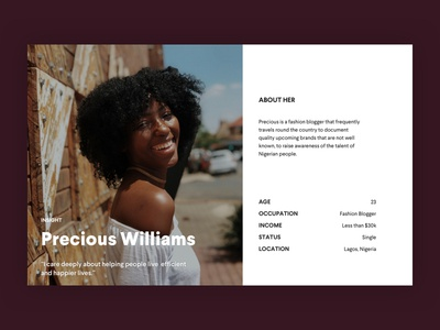 Daily UI #006 - Profile Page