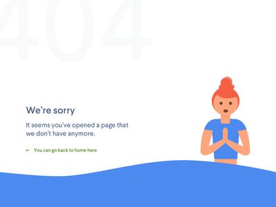 Daily UI #008 - Error 404 Page
