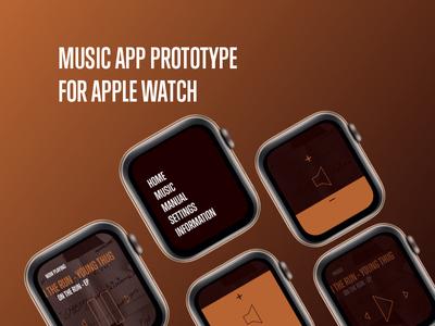 Music App Prototype for Apple Watch