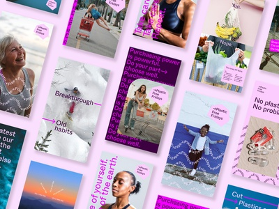 Plastic Free Fridays / Design Mocks + Brand Guidelines brand guidelines social media design advertising design