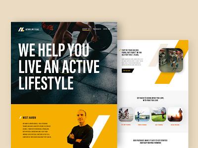 Active Life Studio  /  Branding + Website Design personal trainer graphic design vector ui ux design logo web design logo design branding