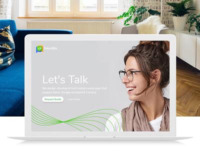 Voice2Biz Website Design google assistant alexa voice technology branding logo design web design