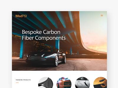 MadPSI Website Homepage Exploration ux ui design logo design logo branding web design
