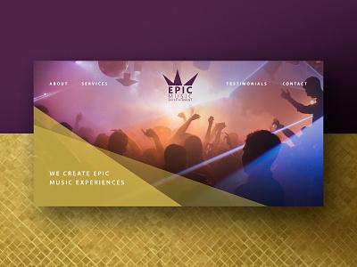 Epic Music Entertainment Homepage Exploration design branding logo design logo web design
