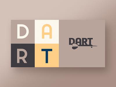 Dart Branding midcenturymodern logo design logo branding