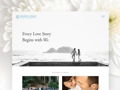 Manus Chau Photography Homepage Design Exploration wedding photography photographer design ux branding logo logo design web design