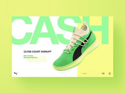 Puma Concept Landing Page fun ux sneakerhead design typography concept web design
