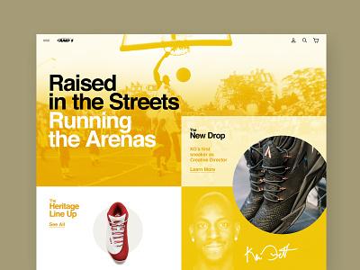 AND1 Webdesign Exploration branding shoes kevin garnett and1 sneakers sneakerhead design web design
