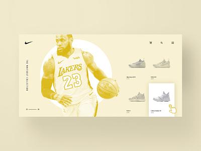 Nike Whiteout Landing Page Exploration exploration visual brand exploration nike shoes sneakers ux design sneakerhead web design