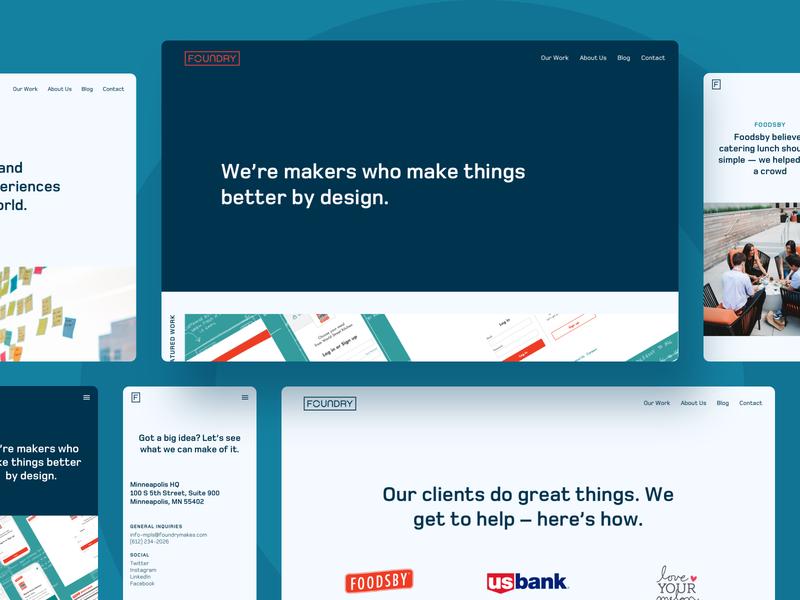Foundry Website agency website product design ui ux
