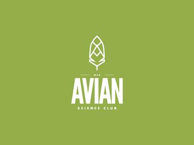 Avian Science Club science illustrator typography msu illustration icon feather college club avian logo branding
