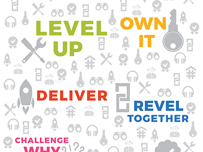 DeveloperTown Values Posters developertown company print design values poster