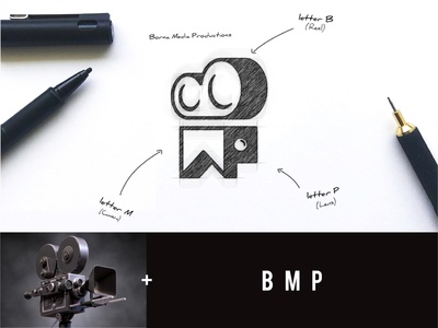 BMP+ Camera Logo lens reels camera logo business logo creative design awesome company logo logo ideas logo creation brand logo
