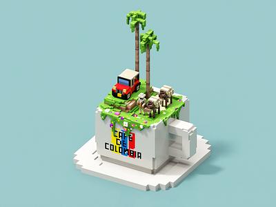 Salento pixel voxel illustration voxel art voxelart magicavoxel
