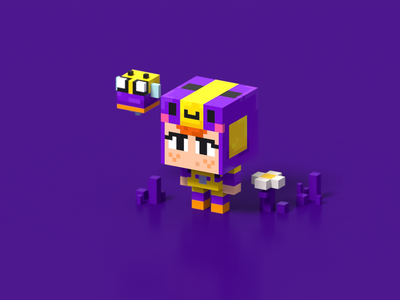 Mini BEA illustration voxel voxel art pixel voxelart magicavoxel