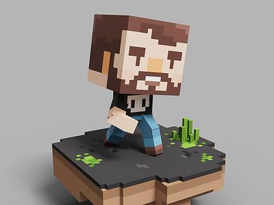 #001 Scott collectible pixel voxelart magicavoxel nft