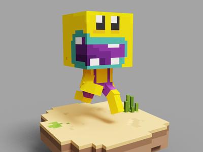 #002 Yero pixel 3d voxel art magicavoxel voxelart crypto art nft