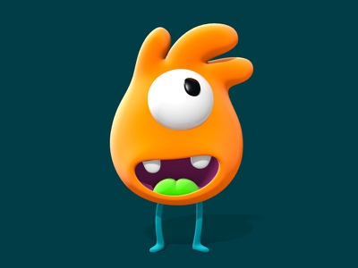 Coki cartoon colombia 3d 3dmodelling cute orange b3d blender