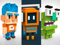 Little Voxel characters