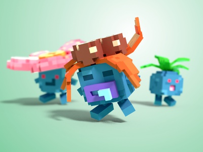 Gloom voxel 3d blender magicavoxel voxel art pokemon