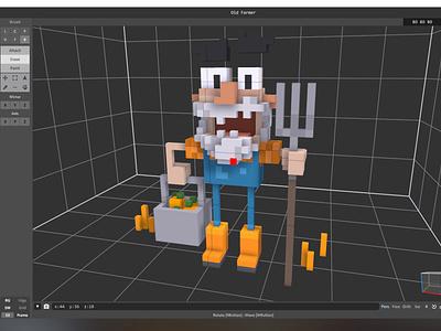 Farmer characterdesign 3d minecraft lego farmer voxelart voxel