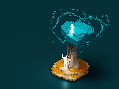 Souls game design 3d magicavoxel voxelart