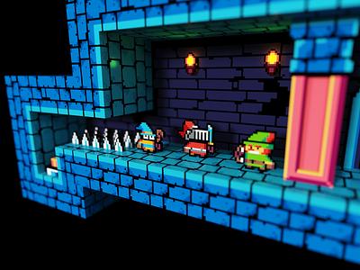 Total Party Kill 8bit pixelart total party kill minecraft fanart 3d magicavoxel voxel voxelart