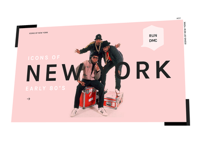 Icons of New York in the Early '80s run dmc webdesign