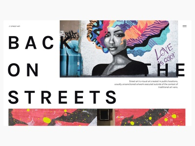 Back On The Streets street art webdesign