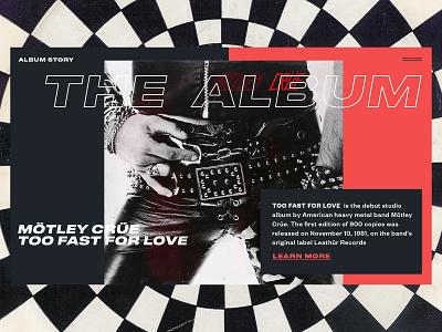 Mötley Crüe — Too Fast For Love rock music mötley crüe web