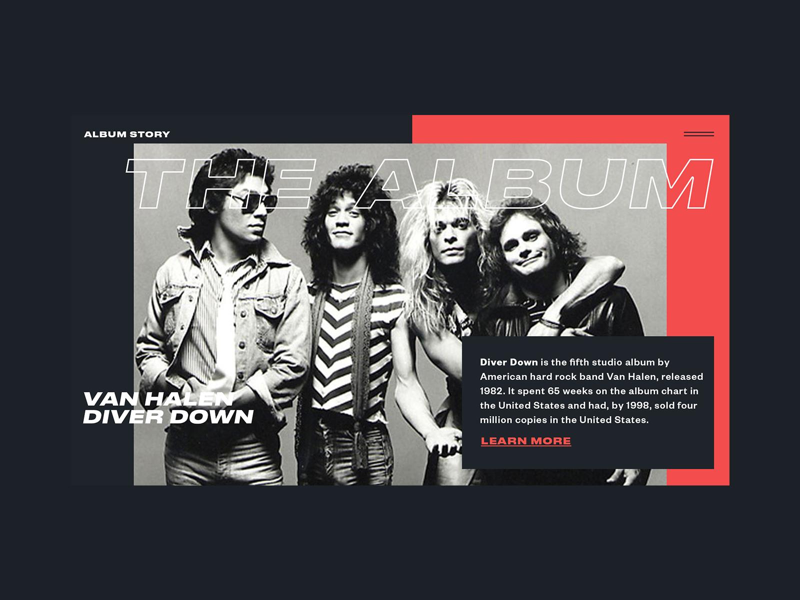 Van Halen Diver Down By Jakob Sermwiset Persson Design Inspiration