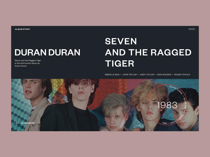 Duran Duran — Album Story music webdesign duran duran
