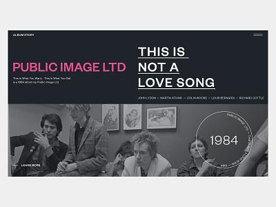 Public Image LTD — Album Story webdesign public image ltd music