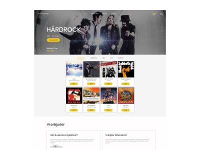 Record Store (Online Shop) webdeisgn