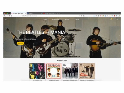 Record Store —  Campaign Page (The Beatles) music webdeisgn