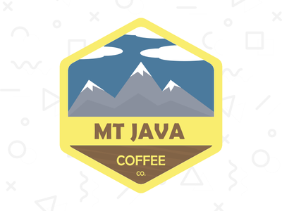 Mt. Java Coffee Co. badge graphic design minimal logo coffee branding