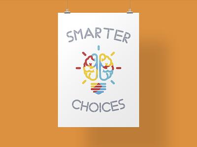 Inspirational Poster light bulb simple minimal poster brain