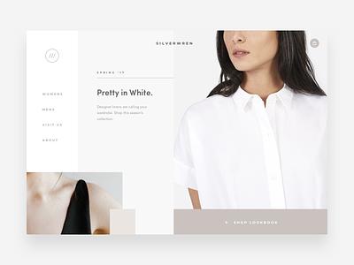 Silverwren Homepage Concept grid web web design concept retail online shop ux ui