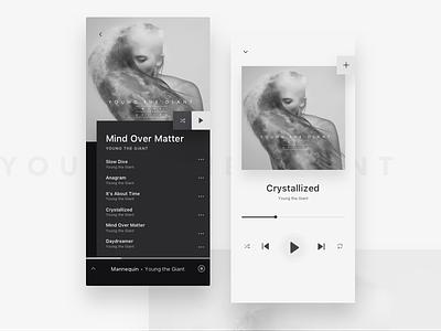 Music App Concept mobile app spotify play redesign cover album iphone x music app music ux ui
