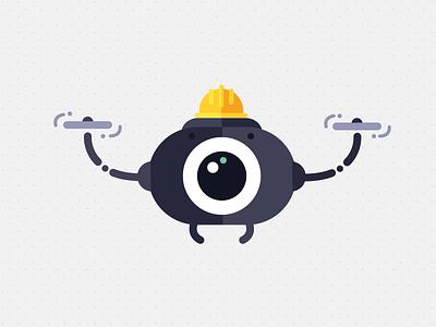 drone design cute robot vector illustration drone