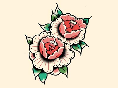 Rose tattoo flash art illustration illustrations rose