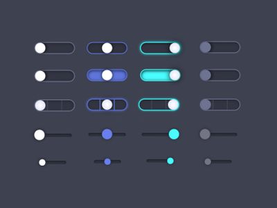 Toggle switch button variations ui details ui design ui dark ui toggle button toggle switch